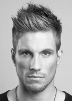 Newest men hairstyle with spiky hairstyle with layers and short hair on sides.PNG