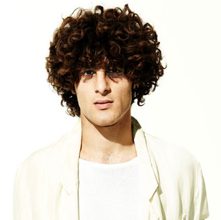 2012 Men Curly Hairstyle With Full Big Curls Png