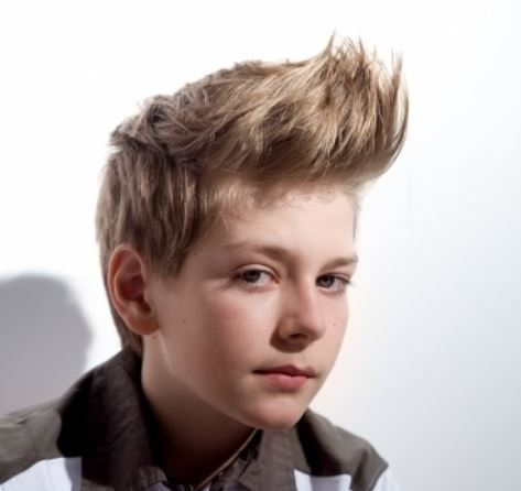 top hairstyles for little boys looking very cool with long