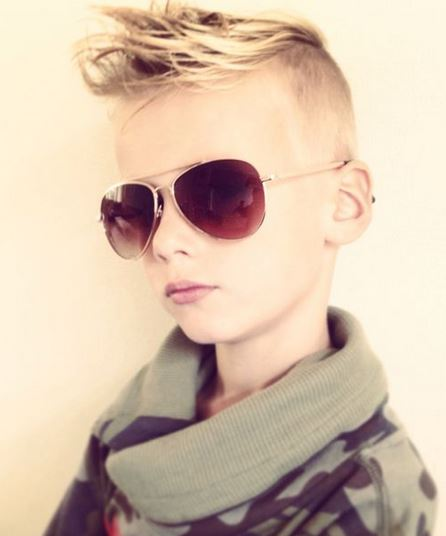 2015 top little boys hairstyles with spiky hair and undercut short hair on the sides.JPG
