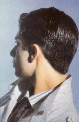 Short Hair Style with Gel, black