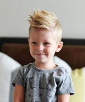 2015 little boys haircuts with cook spiky hairstyle with spiky bangs.JPG