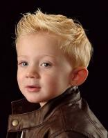 Cool toddler cool haircut with spiky and blonde hair.JPG