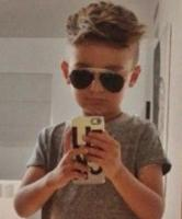 Stylish little boy undercut  hairstyle with layered bang.JPG