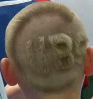 Cool unique mens haircuts pictures with hair shaped in letters and numbers.JPG