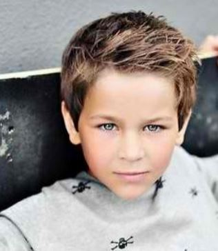 2015 little boy layered hairstyle with layered side bangs JPG