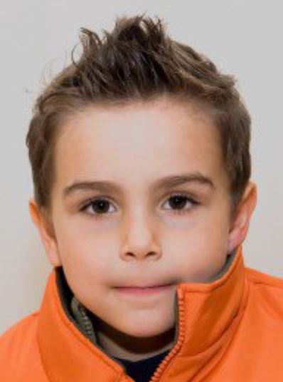 Little boy spiky hairstyle with short spiky hair JPG