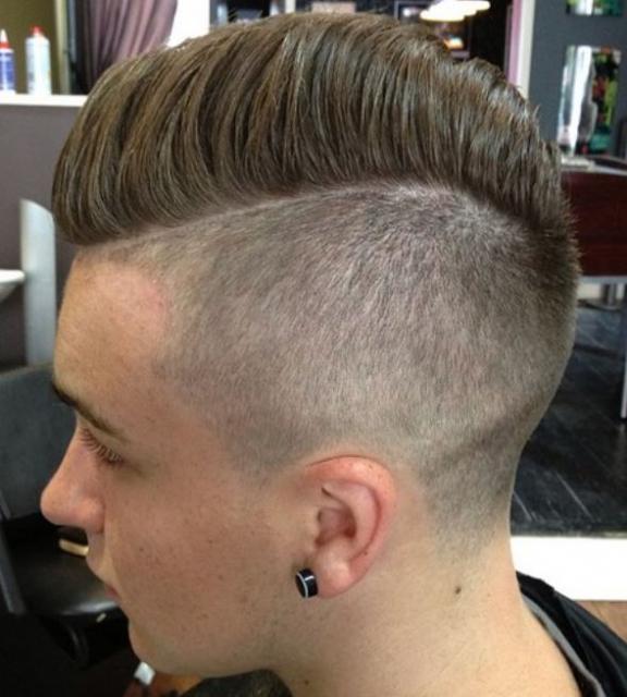 High Fade Comb Over Haircut With Undercut Hair JPG