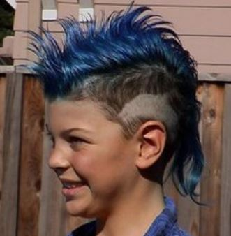 Kids punk hairstyle with blue hair and spiky mohawk.JPG