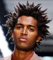 Black male model hairstyle with spiky African Americancurls.JPG