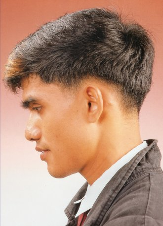 no sideburns haircut hair style highlight black and lighr brown 7 3041 | smenhairstyle28