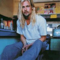 Brat Pitt with Long Hair Style