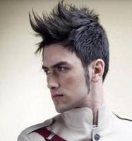 Man cool hairstyle with mohawk haircut with long spiky bang.JPG