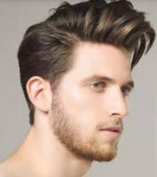 New mens hairstyle with very short and long bang hair