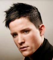 Mens coolest haircut with spiky hair and very short hair undercut on the sides