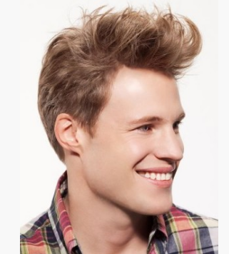 2012 trendy men hairstyle with short in the back and very long bangs in the front