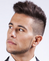 Modern punk haircut for men with very cool haircut with extreme short in the back and sides and long bang and top.PNG