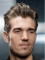 Trendy hairstyles for men with long spiky bangs.PNG