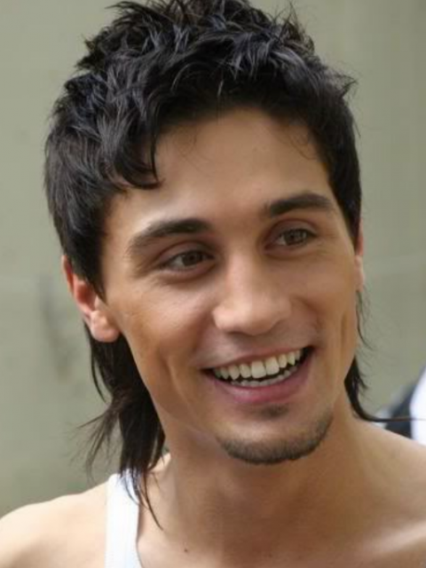 Picture of contemporary mullet hairstyle for men