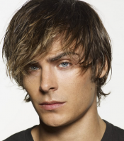 Chic young men hairstyle with long layered bangs with medium short hair length in the back.PNG