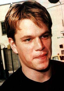 Matt Damon With Short Wavy Hair Style