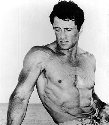 Sylvester Stallone with Short Wavy Hair Style