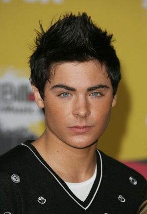 Black Hair Styles Pictures on Zac Efron With Spiky Hairstyle  Black Hair Jpg