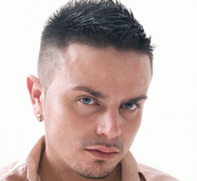 Mens very short haircuts with layered top and very short hair length in the b