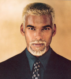 African American Men Short Hair Style Ice Blonde 21