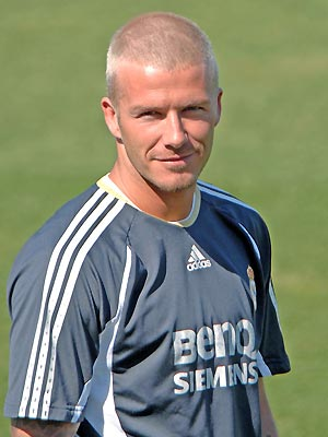 david beckham hair. David Beckham with extremely