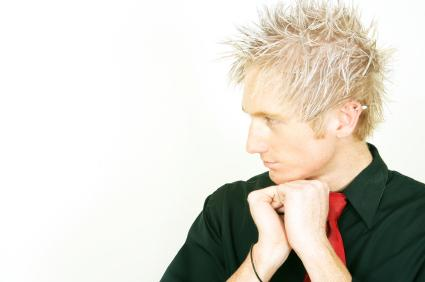 Men extremly spiky hairstyle with long spiky bangs in ice blonde hair_men medium short hair.jpg