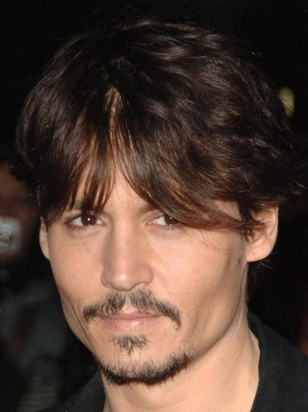 Johnny Depp Short Hairstyle With Long Side Bangs Jpg