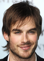 Ian Somderhalder photos with his medium short hairstyle with layers and long layered bang.PNG