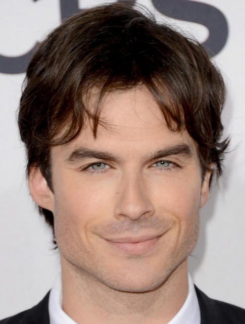 indian men hairstyles : Ian Somerhalder images with short haircut with long bang.PNG
