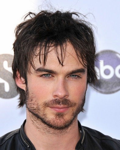 indian men hairstyles : Ian Somerhalder pictures with his sexy messy with long bangs and ...