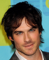 Picture of Ian Somerhalder with his medium haircut with layers and long side bangs.PNG
