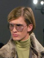 long layered bang mens hair style photos wearing cool sunglasses