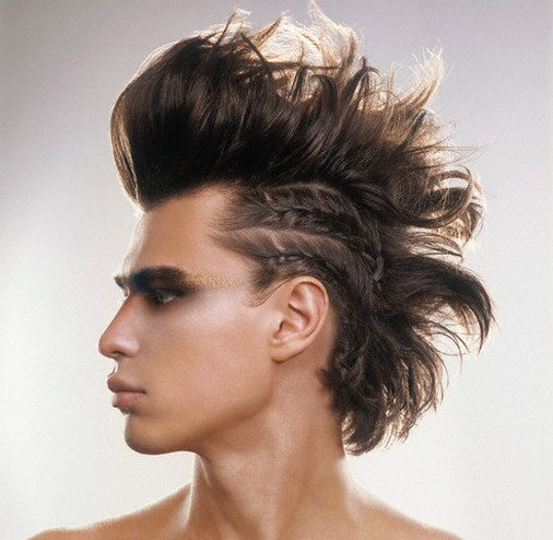mens sexy faux hawk or fake mohawk haircuts