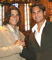 Curly hair Rafael Nadal with Roger Federer.jpg