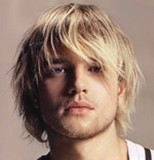 men layered hair cut with long bangs, blonde hair.jpg