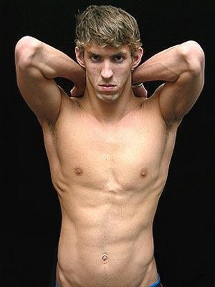 Michael Phelps With Wavy Hairstyle And Light Curly Bang Jpg