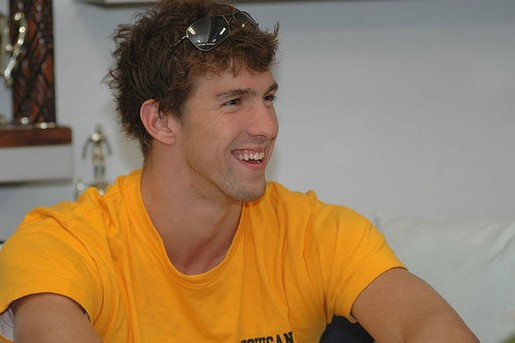 Michael Phelps with trendy messy hairstyle.jpg