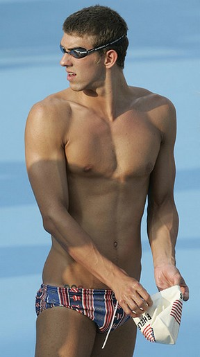 Michael Phelps sexy picture with short hair in his swimming suit.jpg