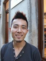 Funky hairstyle for Asian men