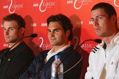 andy roddick haircut. Andy Roddick, Roger Federer