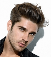 Sexy men short haircut 2014 with very short back and long gel on top.PNG
