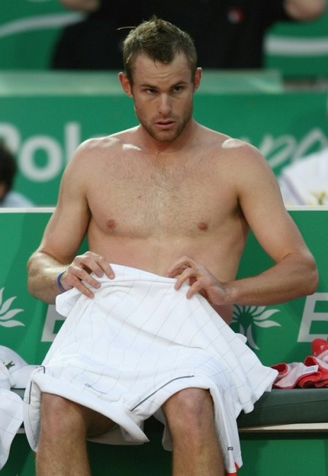 Andy Roddick shirt off with short messy wet hair.jpg