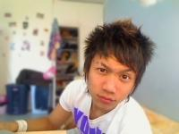 Asian Boy Haircut with long layered bang with spikes on the top