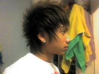 Image of Asian Boy Haircut with thin spikes