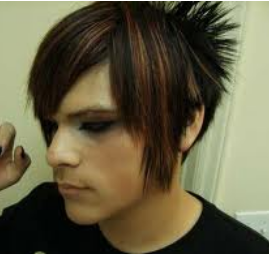 Men's Medium Hair Style_light punk hair with spiky side bangs pic